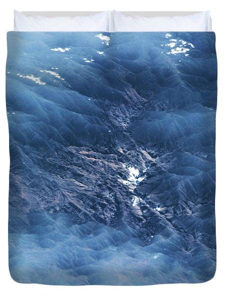 Satellite View Of Venezuelan Valley Duvet Cover