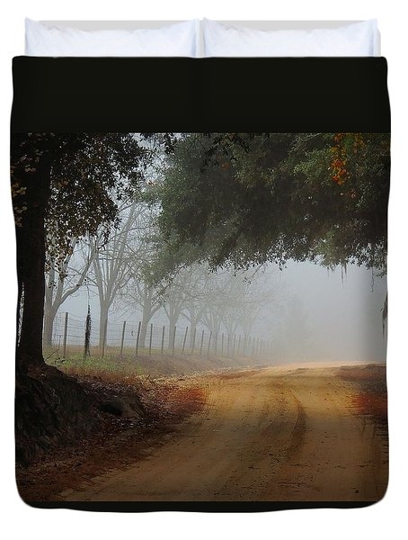 Satilla River Road Duvet Cover by Laura Ragland