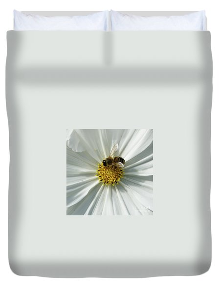 Duvet Cover featuring the photograph Satin Sheets by Linda Shafer