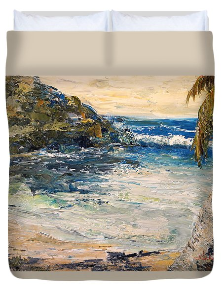 Duvet Cover featuring the painting Saturday Afternoon  by Alan Lakin