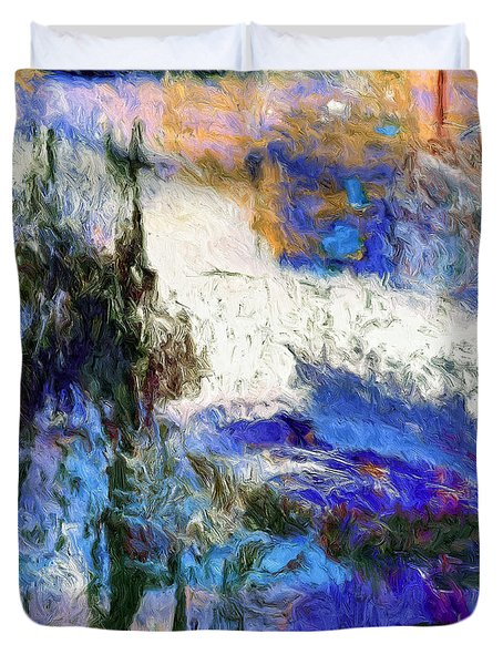 Duvet Cover featuring the painting Sausalito by Dominic Piperata