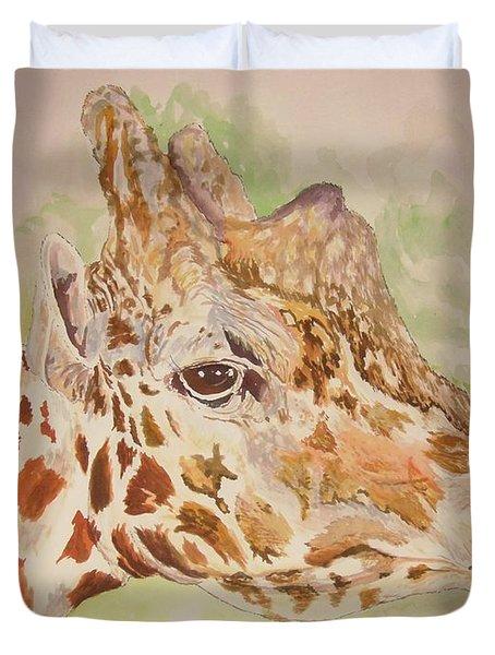 Savanna Giraffe Duvet Cover