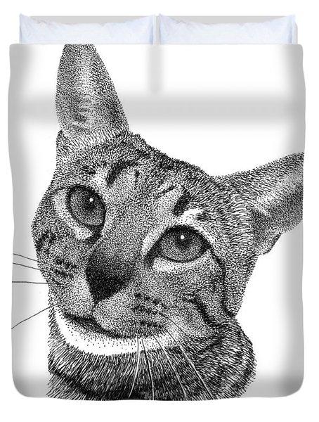 Savannah Cat Duvet Cover