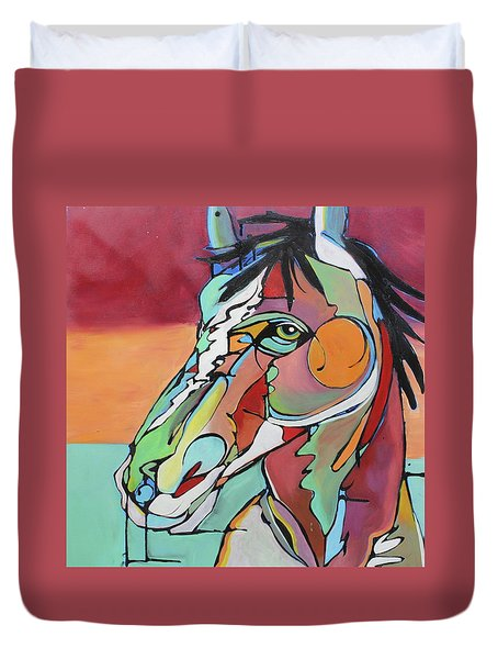 Duvet Cover featuring the painting Savannah  by Nicole Gaitan