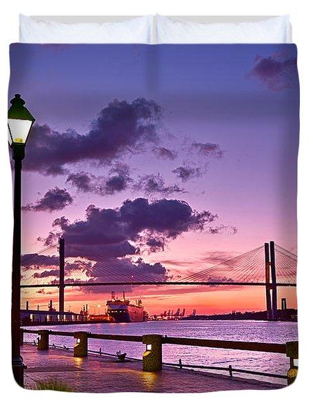 Savannah River Bridge Duvet Cover
