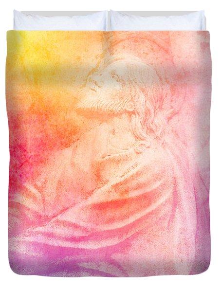 Savior  Duvet Cover by Erika Weber