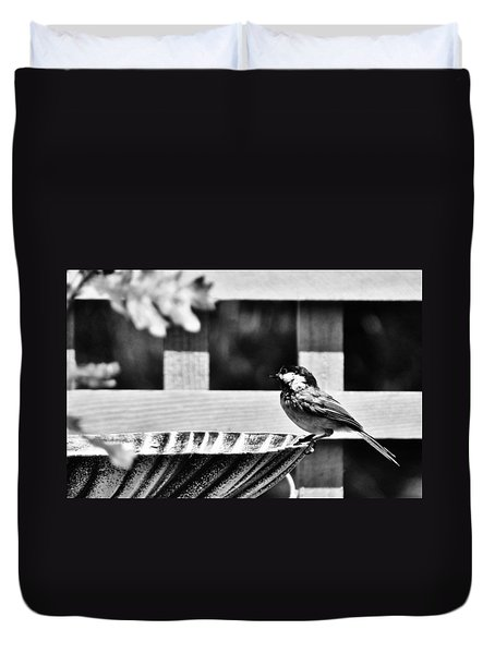 Duvet Cover featuring the photograph Savoring The Moment by VLee Watson