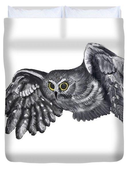 Saw-whet Owl Duvet Cover