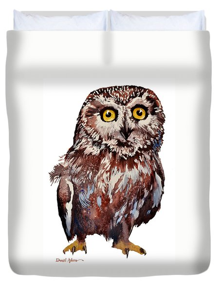 Da148 Saw Whet Owl Daniel Adams Duvet Cover