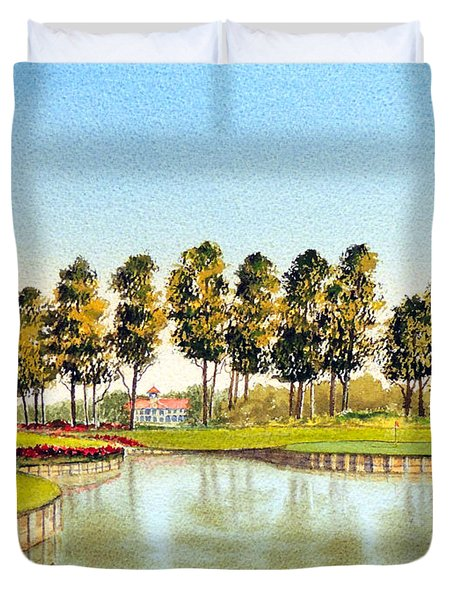 Sawgrass Tpc Golf Course 17th Hole Duvet Cover
