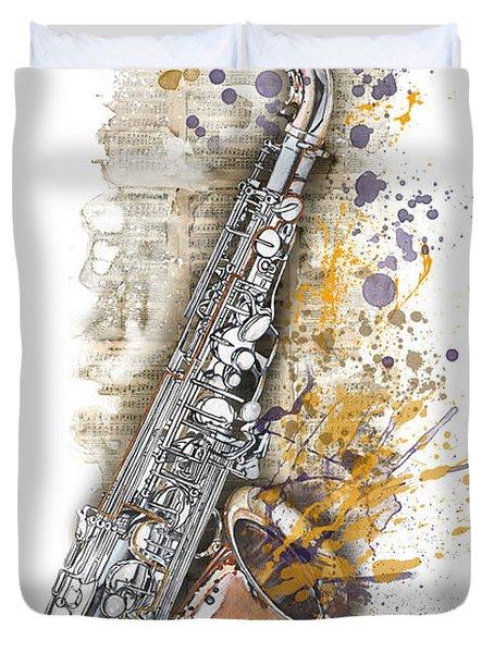 Saxophone 02 - Elena Yakubovich Duvet Cover