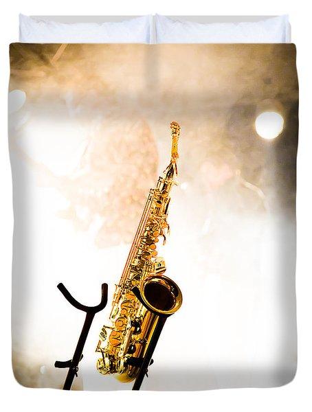 Saxophone  Duvet Cover by Bob Orsillo