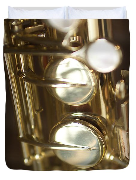 Saxophone Close Up Duvet Cover