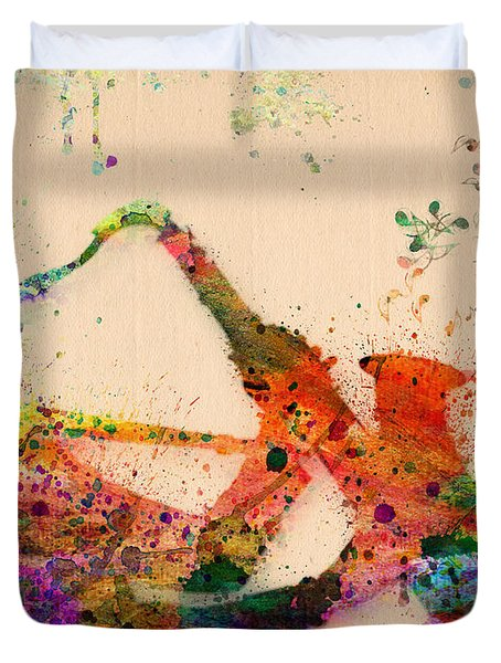 Saxophone  Duvet Cover by Mark Ashkenazi