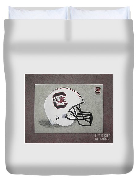 S.c. Gamecocks T-shirt Duvet Cover by Herb Strobino