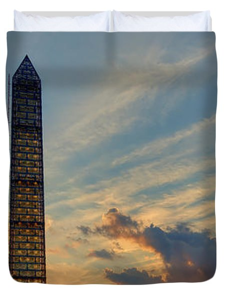 Scaffolding At Sunset Duvet Cover