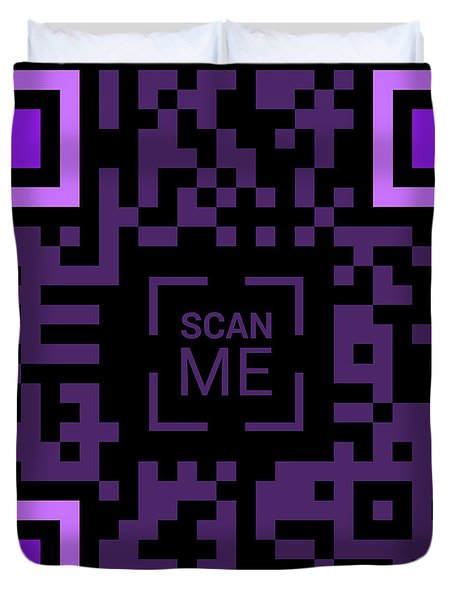 Scan Me Duvet Cover