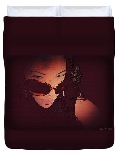 Futuristic Women Sunglasses Fashion Style Art Print Ai P. Nilson  Duvet Cover