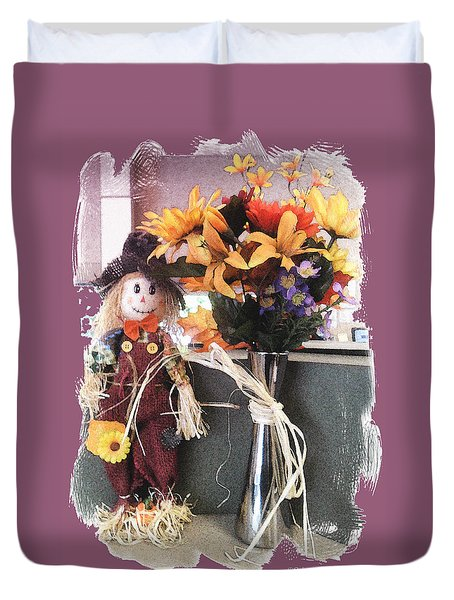 Scarecrow And Company Duvet Cover by Patricia Keller
