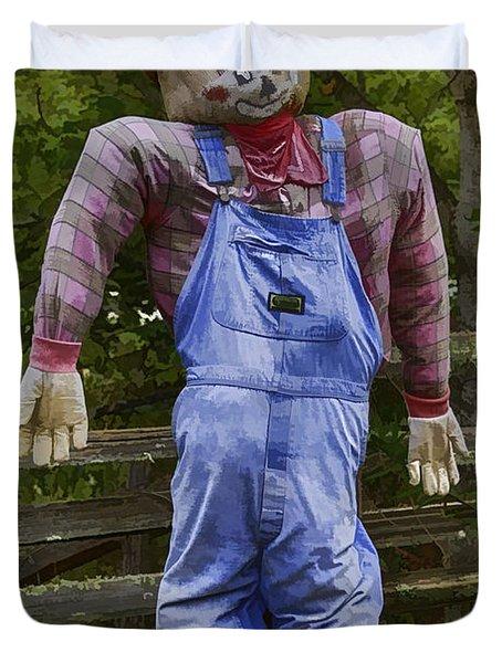 Scarecrow Duvet Cover by John Haldane