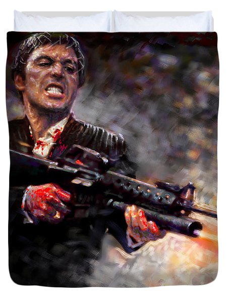 Scarface Duvet Cover by Viola El