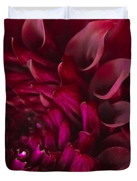 Scarlet Spiral Duvet Cover
