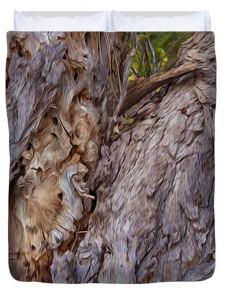 Scarred And Beautiful Duvet Cover by Omaste Witkowski