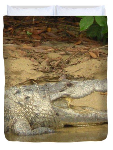 Scary Alligator Duvet Cover