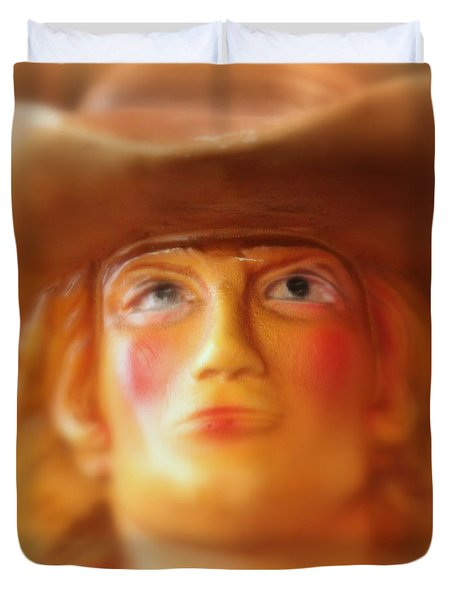 Scary Cowgirl Duvet Cover by Lynn Sprowl