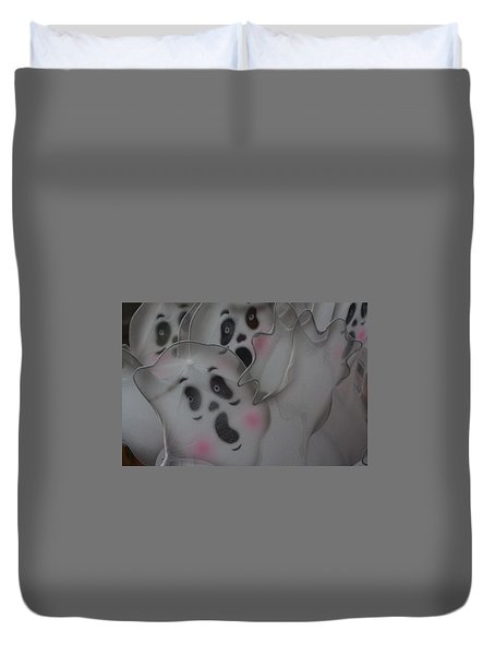 Scary Ghosts Duvet Cover by Patrice Zinck