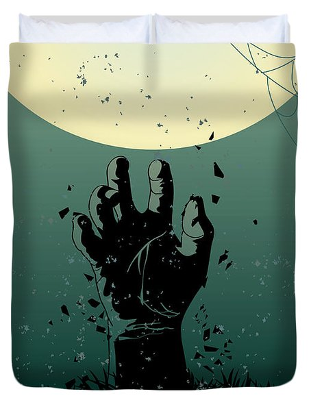 Scary Halloween Duvet Cover