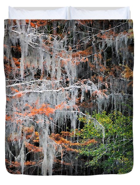 Duvet Cover featuring the photograph Scattered Rust by Lana Trussell