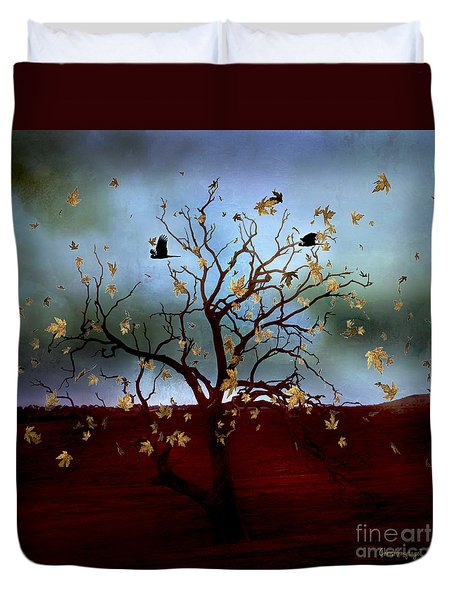 Duvet Cover featuring the photograph Scattered Thoughts by Chris Armytage