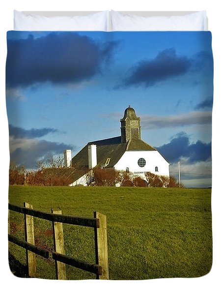 Duvet Cover featuring the photograph Scene From Giants Causeway by Nina Ficur Feenan