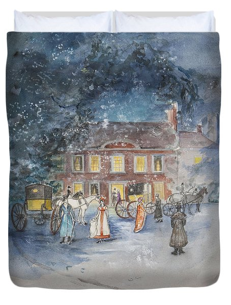 Scene From Jane Austens Emma Duvet Cover