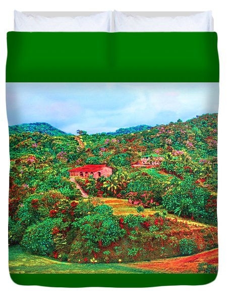Scene From Mahogony Bay Honduras Duvet Cover