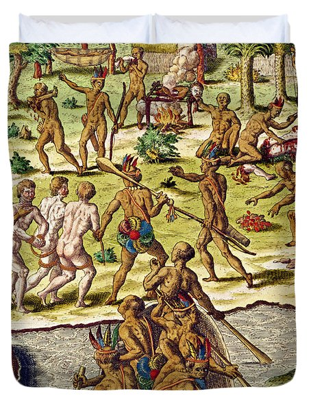 Scene Of Cannibalism Duvet Cover