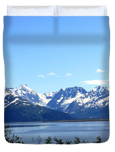 Duvet Cover featuring the photograph Scenic Byway In Alaska by Kathy  White