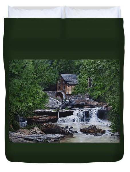 Scenic Grist Mill Duvet Cover by Vicky Path