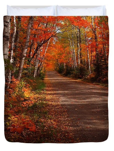 Scenic Maple Drive Duvet Cover