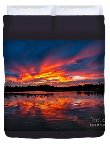 Scenic Marine Sunrise Duvet Cover by Robert Bales