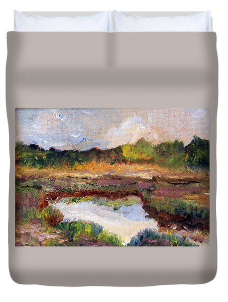 Scenic Marsh View From 6a Duvet Cover