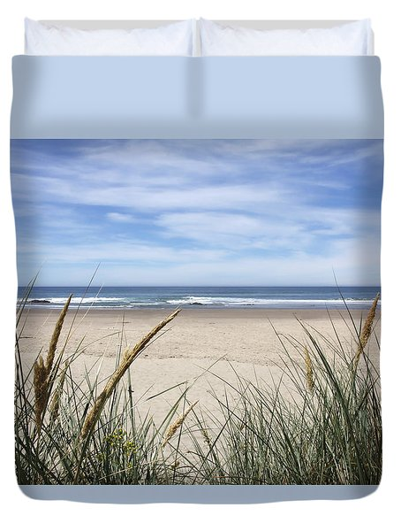 Scenic Oceanview Duvet Cover by Athena Mckinzie