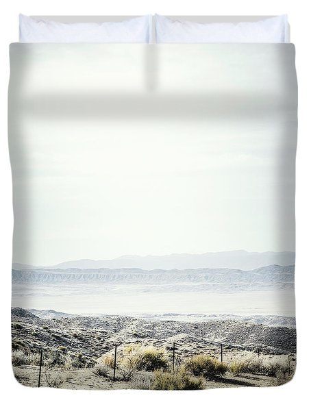 Scenic View Of The  Carrizo Plain Duvet Cover