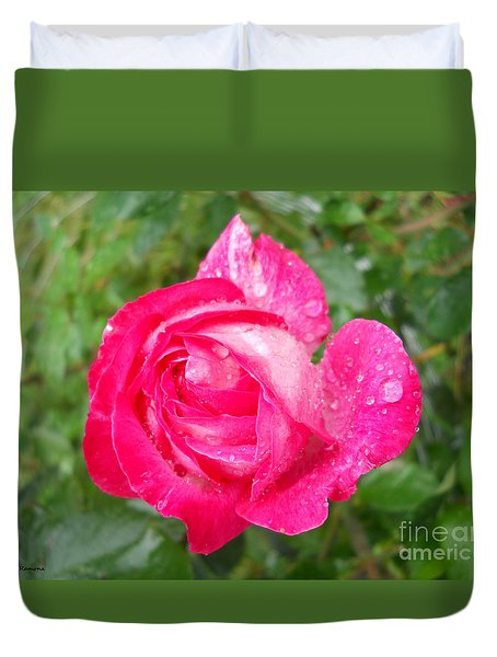 Duvet Cover featuring the photograph Scented Rose by Ramona Matei