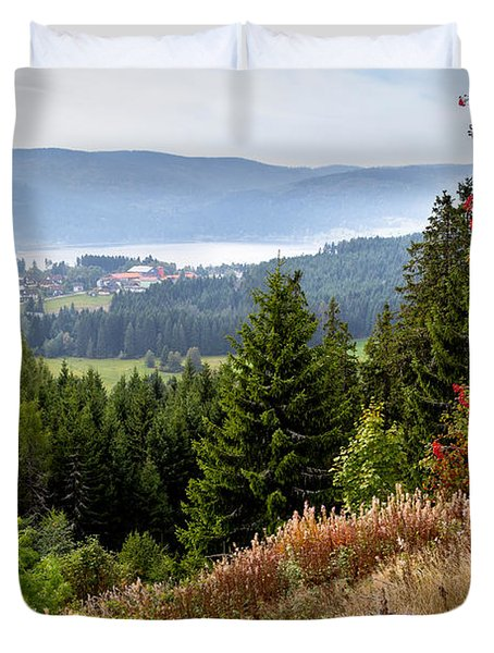 Schluchsee In The Black Forest Duvet Cover