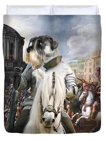 Schnauzer Art - A Siege The Sack Of Rome   Duvet Cover