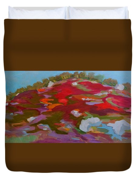 Schoodic Trail Blueberry Hill Duvet Cover by Francine Frank