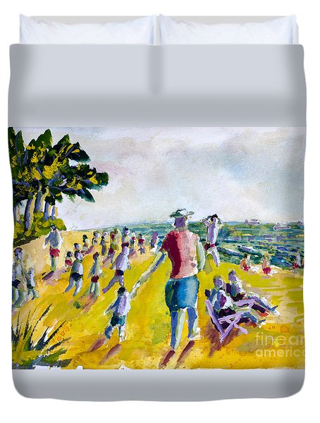 School's Out On The Beach Duvet Cover