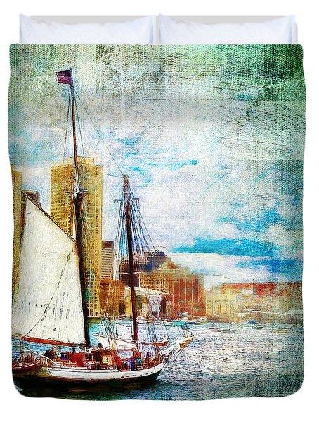Schooner Bay Duvet Cover